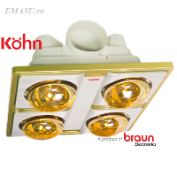 Tổng đại lý phân phối đèn sưởi nhà tắm âm trần chính hãng giá rẻ Miền Bắc