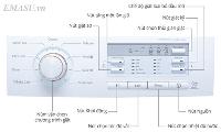 Hướng dẫn các bước sử dụng bảng điều khiển máy giặt LG lồng ngang