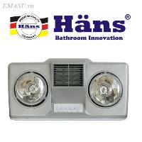 Đèn sưởi nhà tắm Hans thổi gió nóng H...